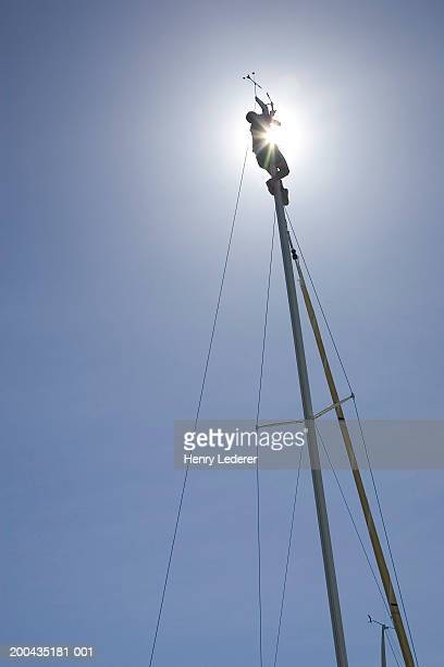 Sailboat mast, low angle view