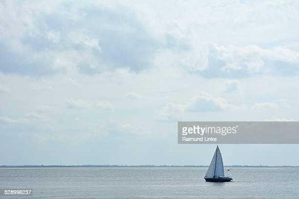 Sailboat on North Sea