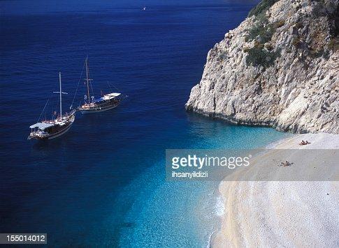 Sailboats and Beach