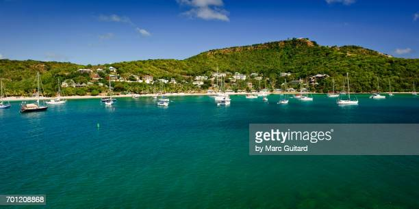 Sailboats in English Harbour, Saint Paul Parish, Antigua
