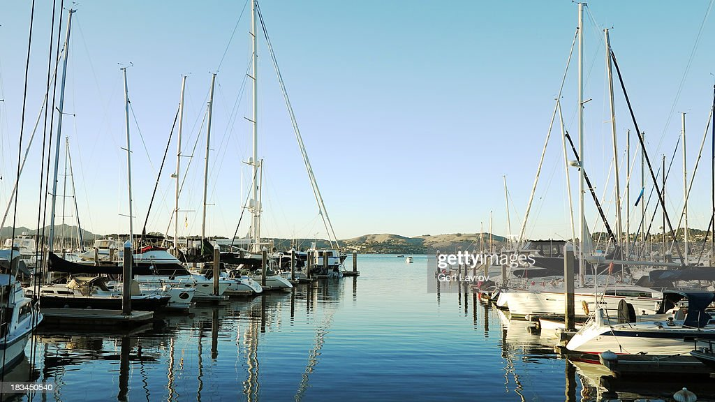 Sailboats in Sausalito, California