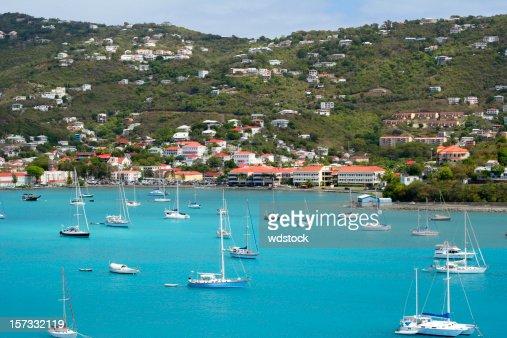 Sailboats off St. Thomas