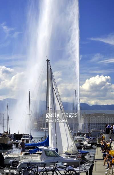 Sailboats on Lake Geneva