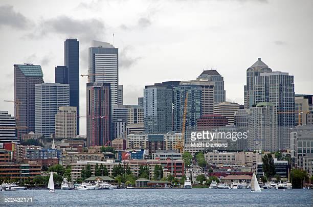 Sailboats on Seattle's Lake Union
