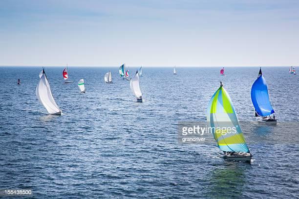 Sailboats Racing