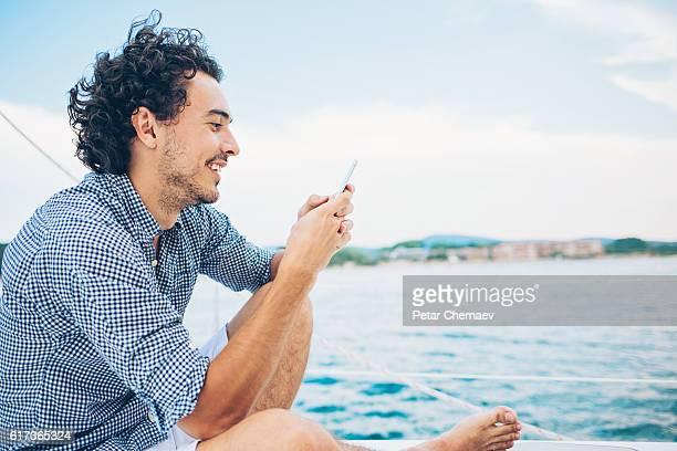 Sailing and texting