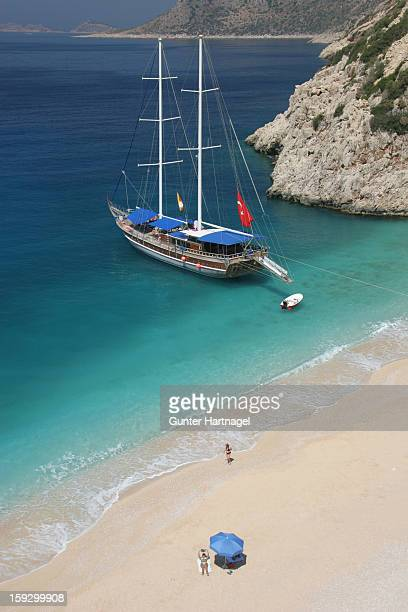 Sailing boat at the beach