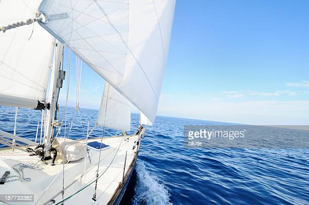 Sailing boat at the sea