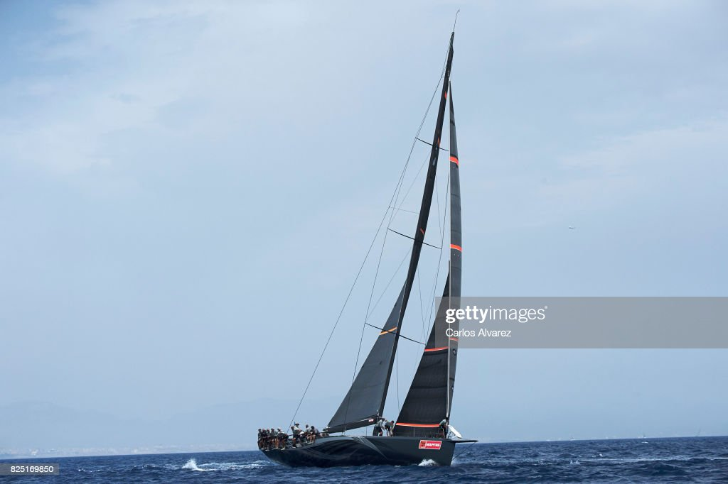 Sailing boat competes during a leg of the 36th Copa del Rey Mapfre Sailing Cup on August 1, 2017 in Palma de Mallorca, Spain.