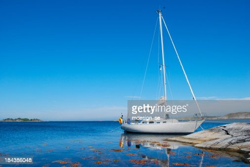 Sailing boat in the Swedish archipelago