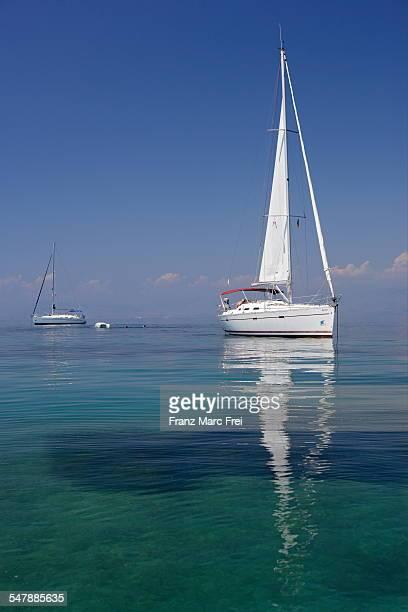 Sailing boat near Kerkyra, Corfu