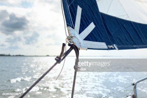 Sailing boat on the sea : Stock Photo