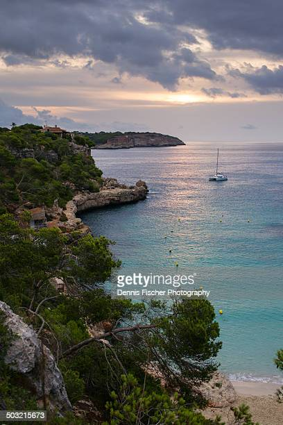 Sailing boat sunrise Mallorca
