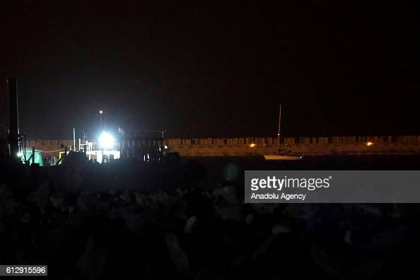 Sailing boat Zaytouna belongs to aid flotilla of 'The Women's Boat to Gaza' is seen at Israeli Naval Base in Ashdod Port after it seized by Israeli...