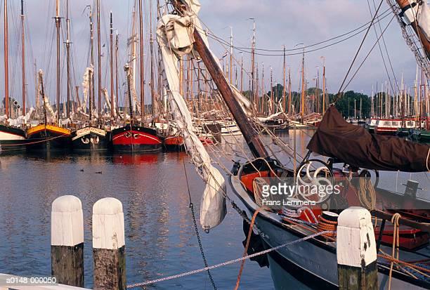 Sailing Boats in Harbor