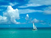 Sailing in paradise.