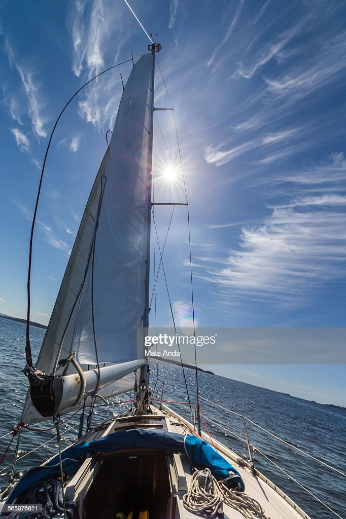 Sailing in the sun