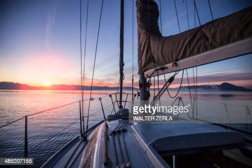 Sailing on Lake Maggiore, Piemonte, Novara, Italy