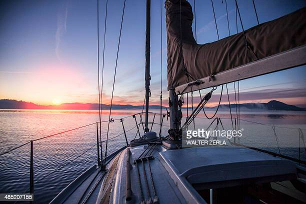 Sailing on Lake Maggiore, Piemonte, Novara, Italy