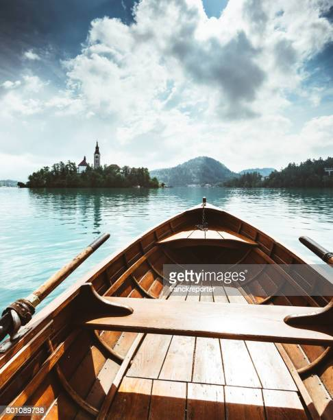 Segeln auf dem bled See in Slowenien