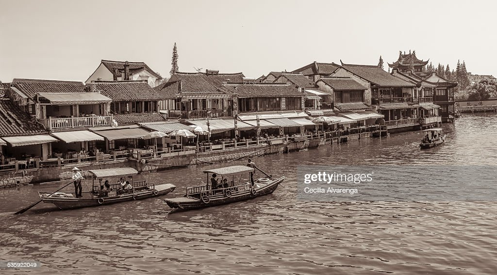 Sailing on the Cao Gang River : Stock Photo