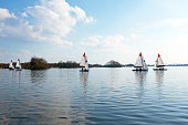 Sailing on the Loosdrechtse Plassen in the Netherlands