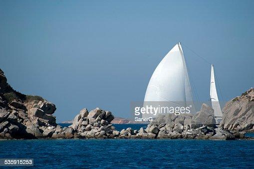 Navegación a vela : Foto de stock