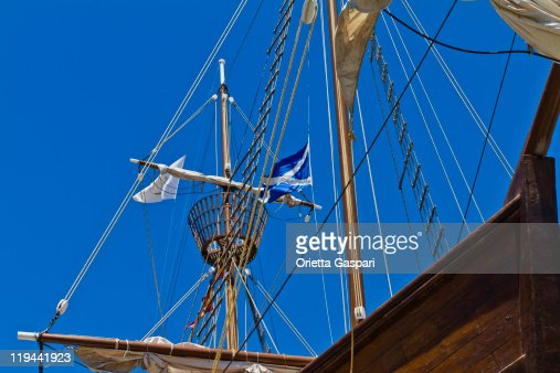 Sailing Ship From Below