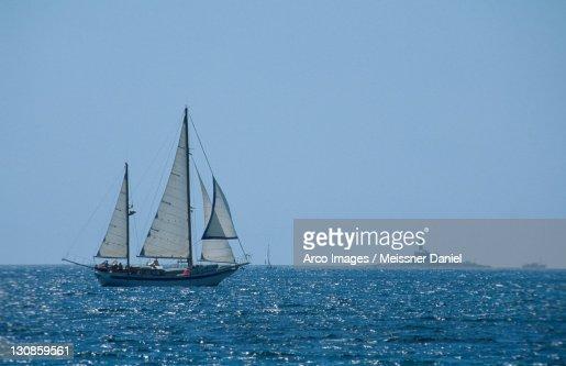 Sailing Ship on the Adriatic Sea, near Rovinj, Istria, Croatia