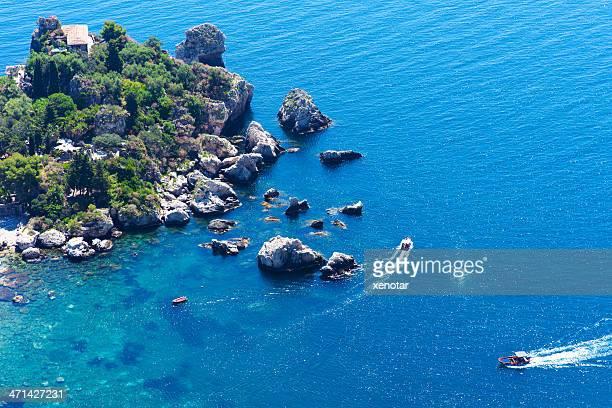 Segeln taormina Isola Bella, erhöhten Blick