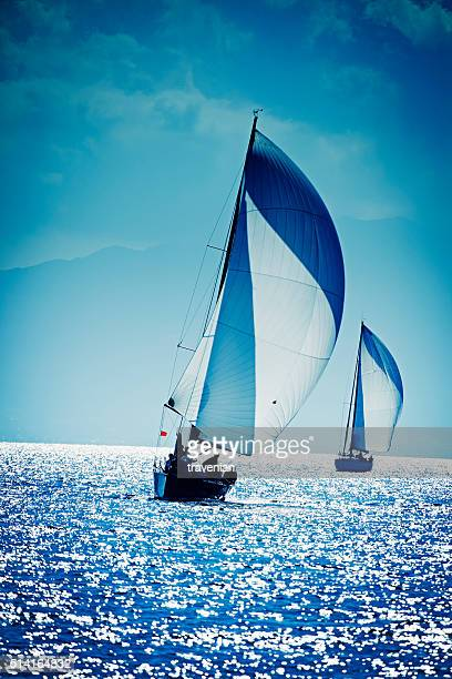 Sailing with sailboat