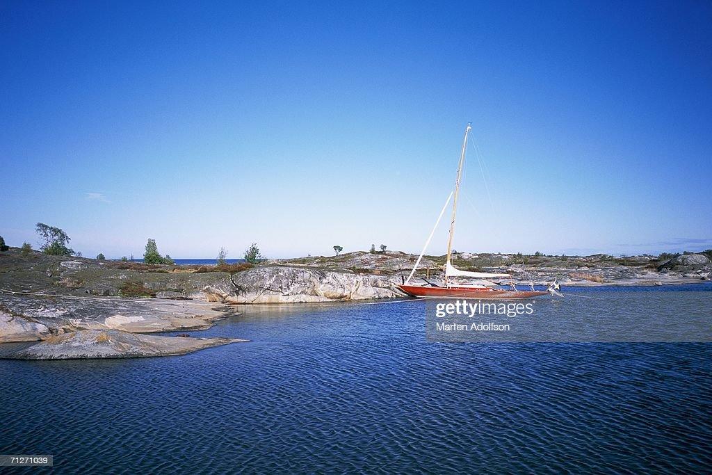 A sailing-boat in the archipelago.