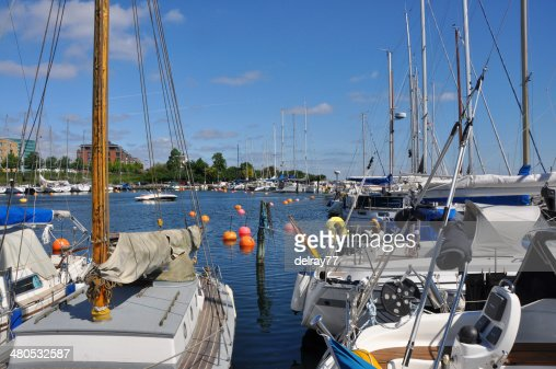 sailingboats in copenhagen harbour : Stock Photo