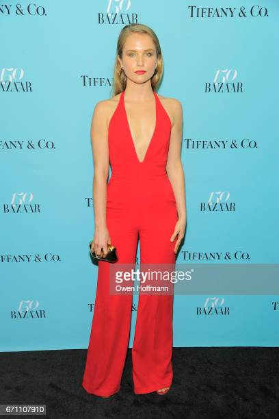 Sailor Brinkley Cook attends Harper's Bazaar 150th Anniversary Party at The Rainbow Room on April 19 2017 in New York City
