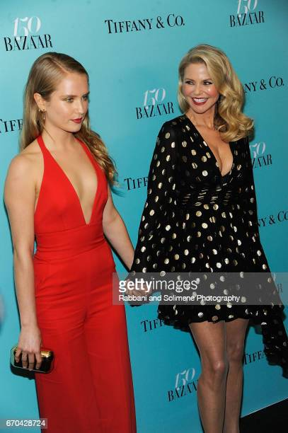 Sailor BrinkleyCook and Christie Brinkley attends the Harper's Bazaar 150th Anniversary Party at The Rainbow Room on April 19 2017 in New York City