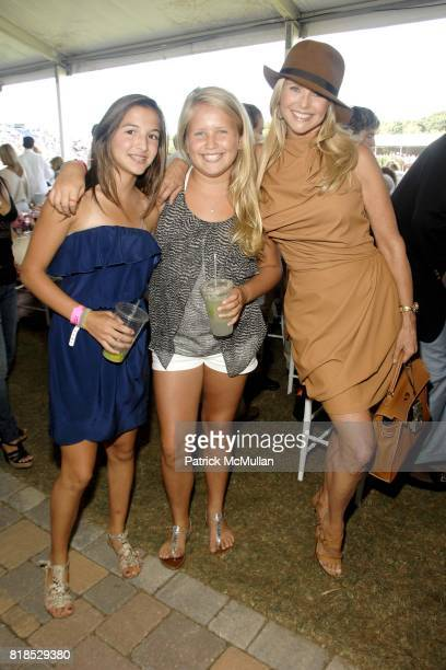 Sailor Lee Brinkley Cook and Christie Brinkley attend David Yurman hosts luncheon on Grand Prix Sunday at The Hampton Classic on September 5 2010 in...