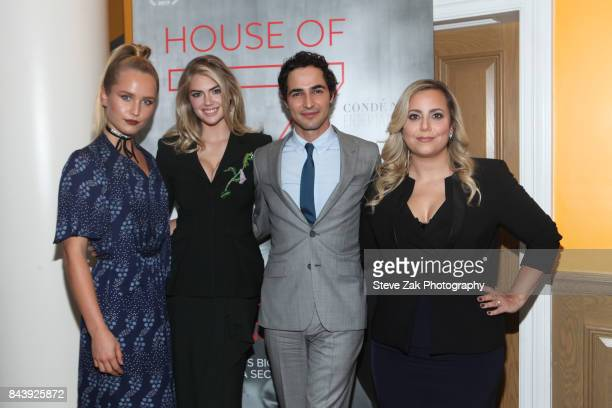 Sailor Lee Brinkley Cook Kate Upton Zac Posen and Sandy Chronopoulos attend the premiere of 'House Of Z' hosted Brooks Brothers with The Cinema...