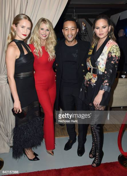 Sailor Lee BrinkleyCook Christie Brinkley John Legend and Chrissy Teigen attend Sports Illustrated Swimsuit 2017 NYC launch event at Center415 Event...