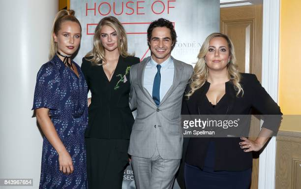 Sailor Lee BrinkleyCook model Kate Upton designer Zac Posen and director Sandy Chronopoulos attend the premiere of 'House of Z' hosted by Brooks...