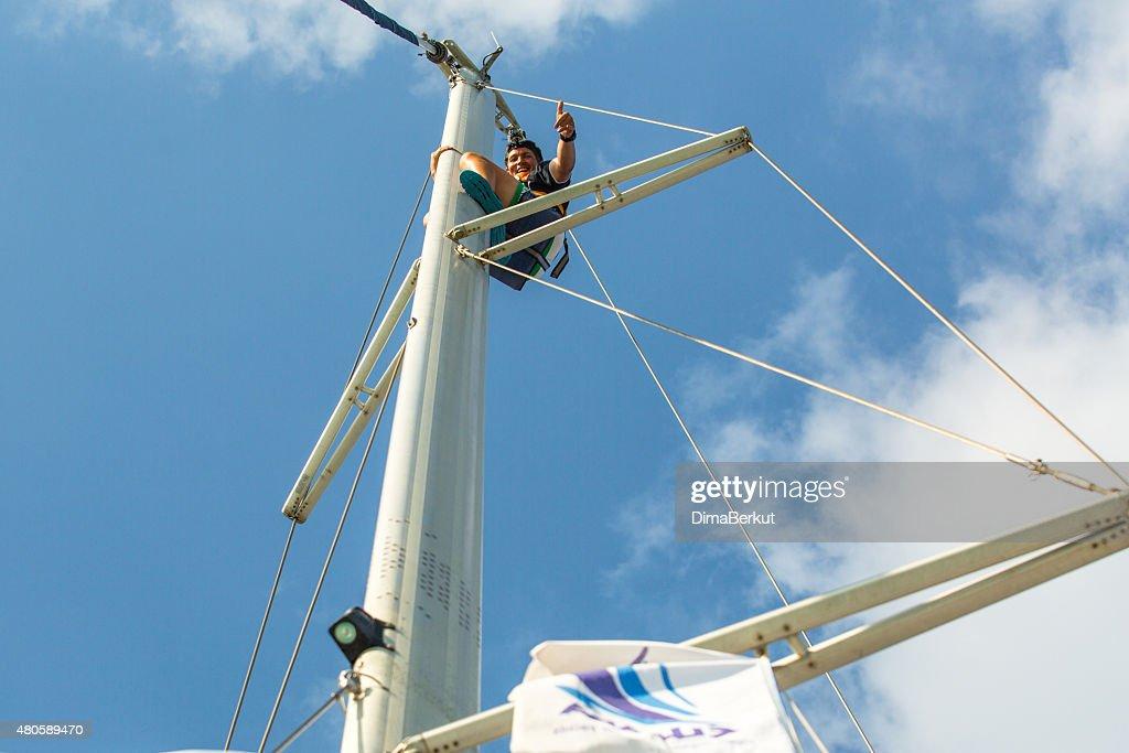 Sailors participate in sailing regatta 12th Ellada : Stock Photo