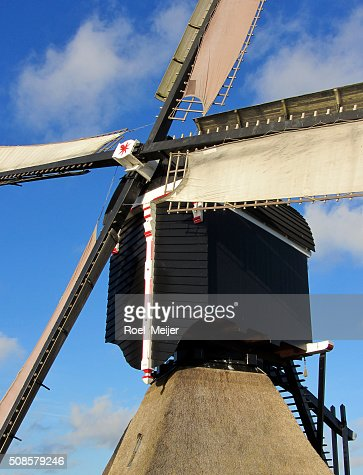 Sails of Dutch windmill : Bildbanksbilder