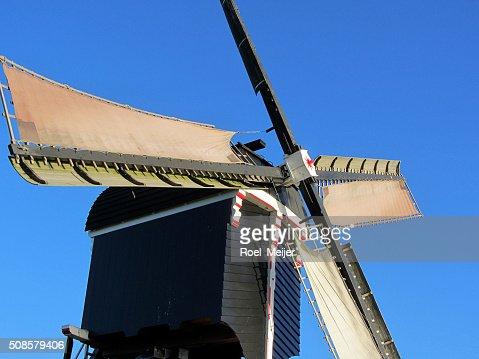 Sails of Dutch windmill : Stock Photo