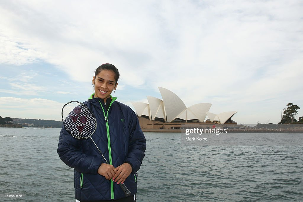 <a gi-track='captionPersonalityLinkClicked' href=/galleries/search?phrase=Saina+Nehwal&family=editorial&specificpeople=729912 ng-click='$event.stopPropagation()'>Saina Nehwal</a> of India poses during the Australian Badminton Open 2015 media call at Campbells Cove, The Rocks, on May 25, 2015 in Sydney, Australia.