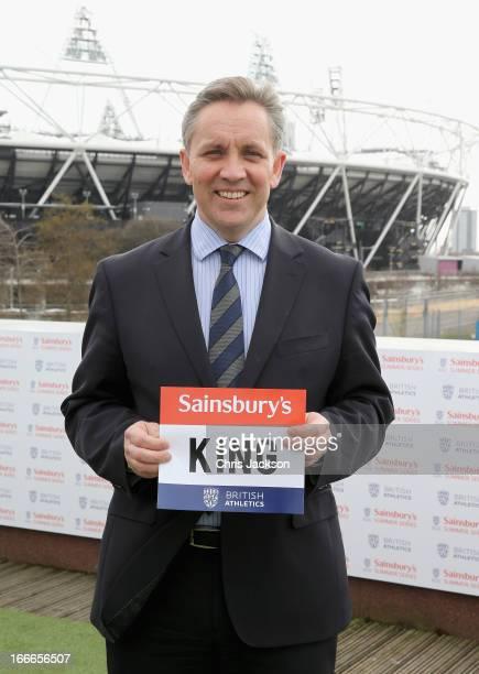 Sainsbury's CEO Justin King poses for a photograph at the launch of the Sainsbury's Summer Series at Stratford on April 15 2013 in London England...