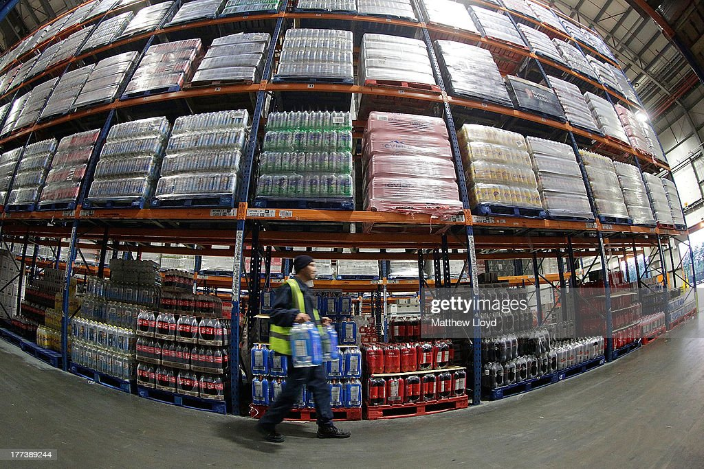 Sainsbury's has sold more than 250million bottles of soft drinks over the summer at the Sainsbury's infrastructure Waltham Point Depot on August 22, 2013 in Waltham Abbey, England.