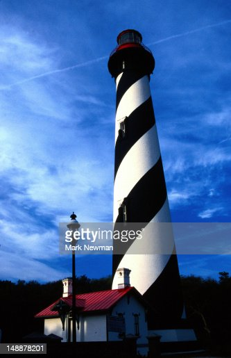 Saint Augustine Lighthouse, spiral stripes up the tower - Saint Augustine, Florida