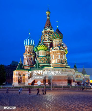 Saint Basil Cathedral in Red Square Moscow