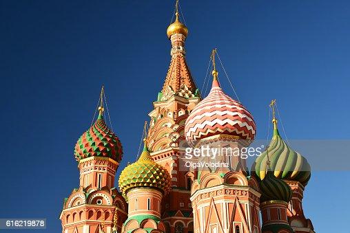 Heilige Basilikum-Kathedrale auf dem Roten Platz in Moskau, Russland : Stock-Foto
