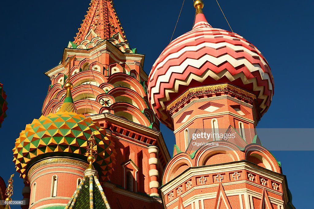 Saint Basil Cathedral on  Red Square in Moscow, Russia : Stockfoto