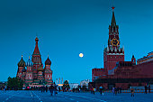 Saint Basils Cathedral and Kremlin Spasskaya Tower